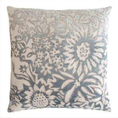 Kevin O'Brien Garland Appliqued Linen Pillow GRP-SEA