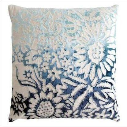 Kevin O'Brien Garland Appliqued Linen Pillow GRP-TWI