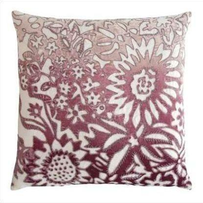 Kevin O'Brien Garland Appliqued Linen Pillow GRP-WIST
