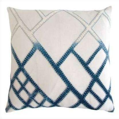 Kevin O'Brien Net Appliqued Linen Pillow NTP-AZ