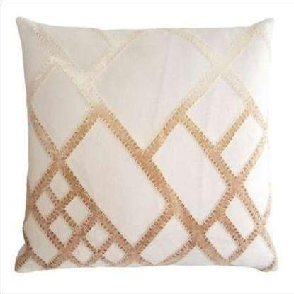 Kevin O'Brien Net Appliqued Linen Pillow NTP-NK