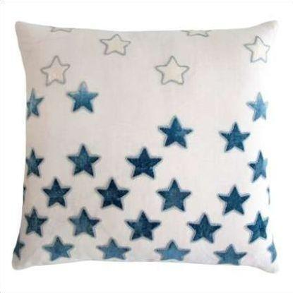 Kevin O'Brien Stars Appliqued Linen Pillow STP-AZ