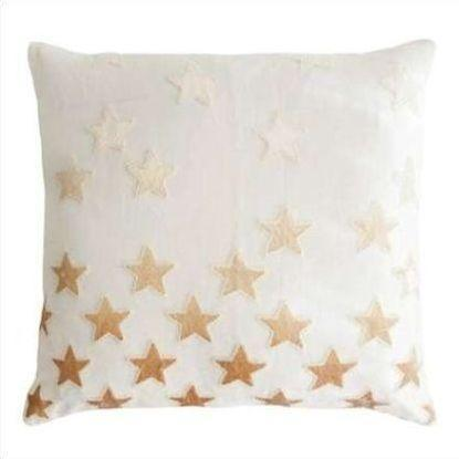 Kevin O'Brien Stars Appliqued Linen Pillow STP-NK