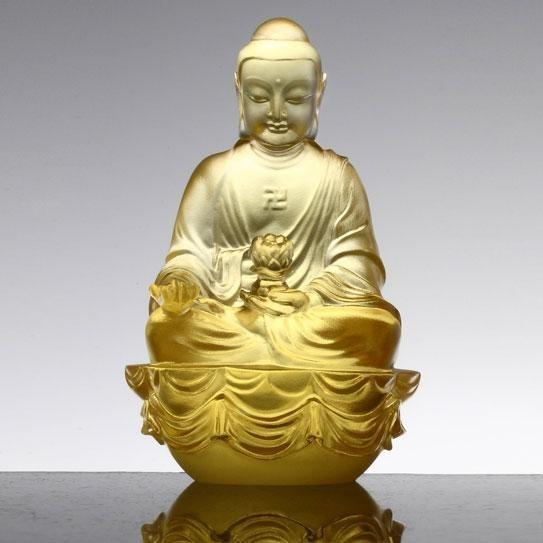 LiuliGongFang Guardians Of Peace Accompanied By Peace And Joy Amitabha Buddha PED211.ADAAD