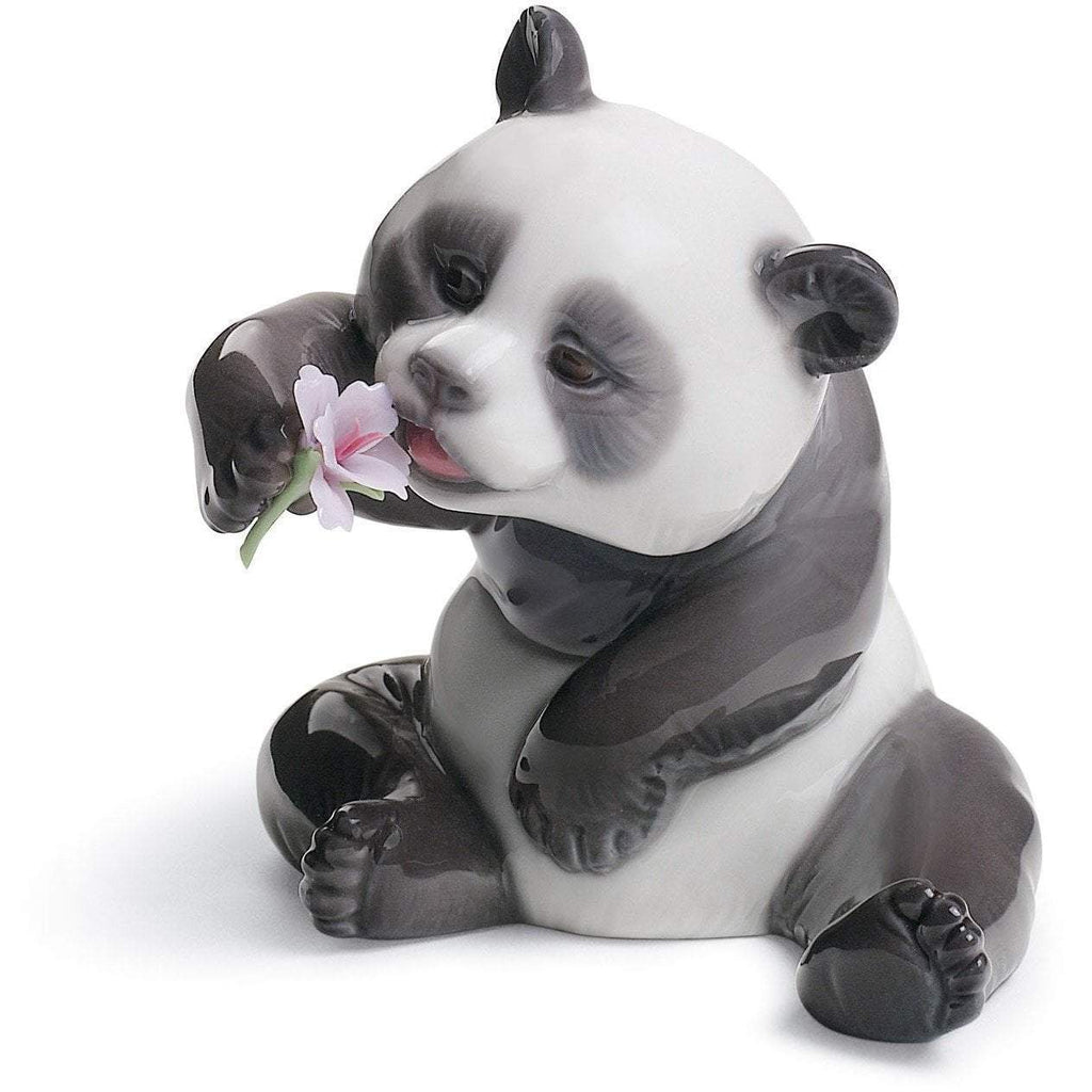 Lladro A Cheerful Panda Figurine 01008358