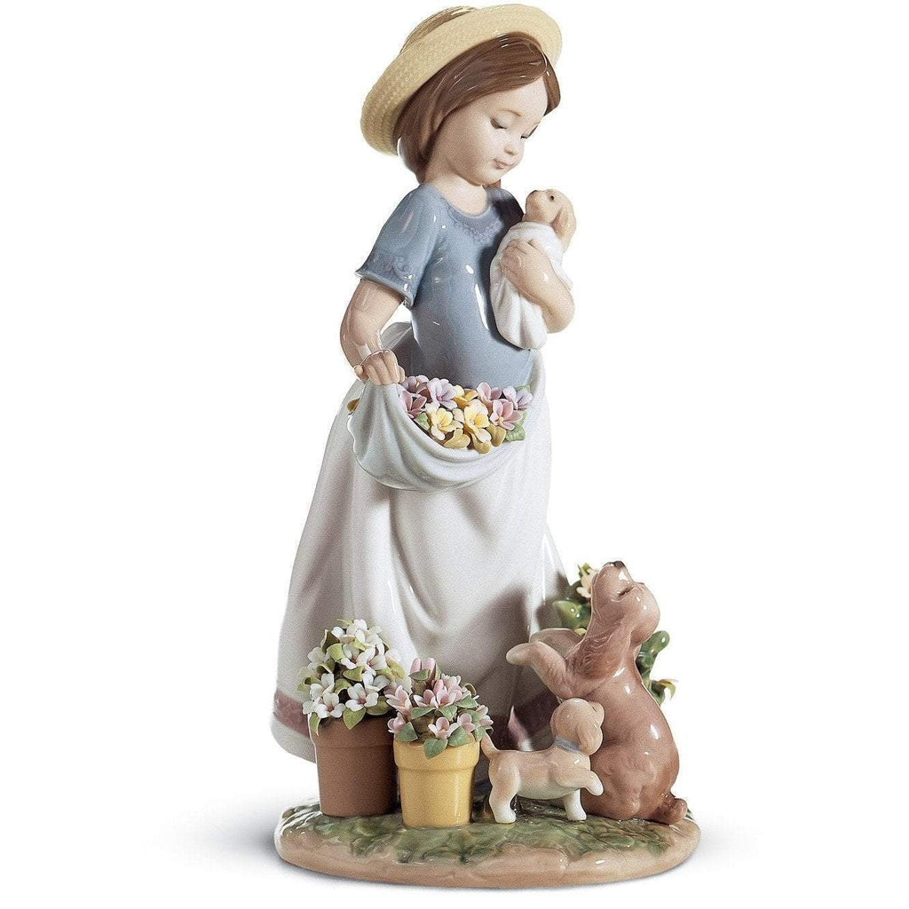 Lladro A Romp In The Garden Figurine 01006907