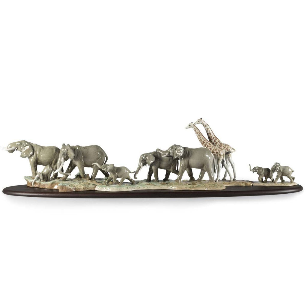 Lladro African Savannah Wild Animals Sculpture 01009394
