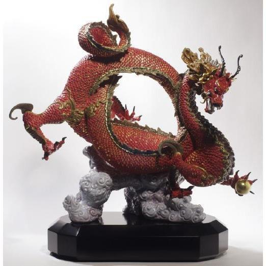 Lladro Auspicious Dragon Red Figurine 01008625
