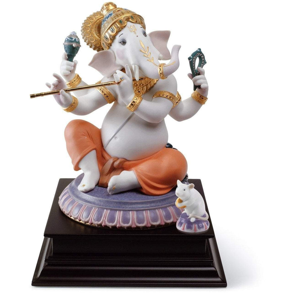 Lladro Bansuri Ganesha Limited Edition Figurine 01007182