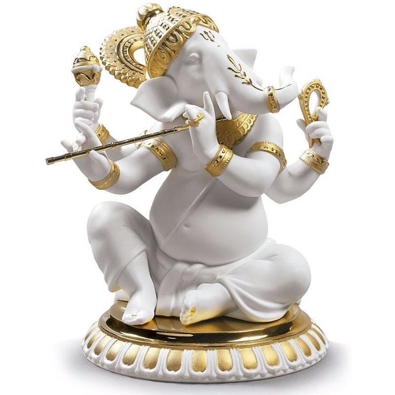 Lladro Bansuri Ganesha Re-Deco Figurine 01009277