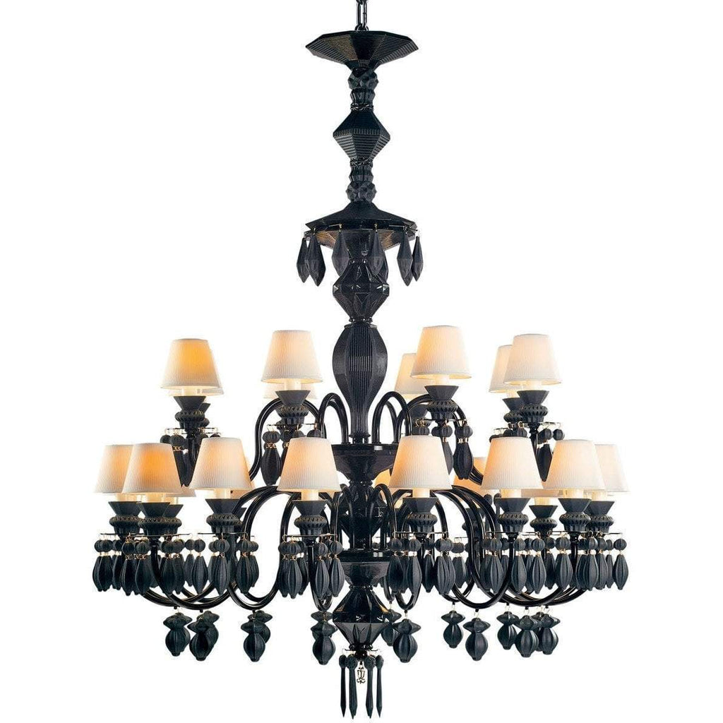 Lladro Belle De Nuit Chandelier 24 Light Absolute Black 01023750