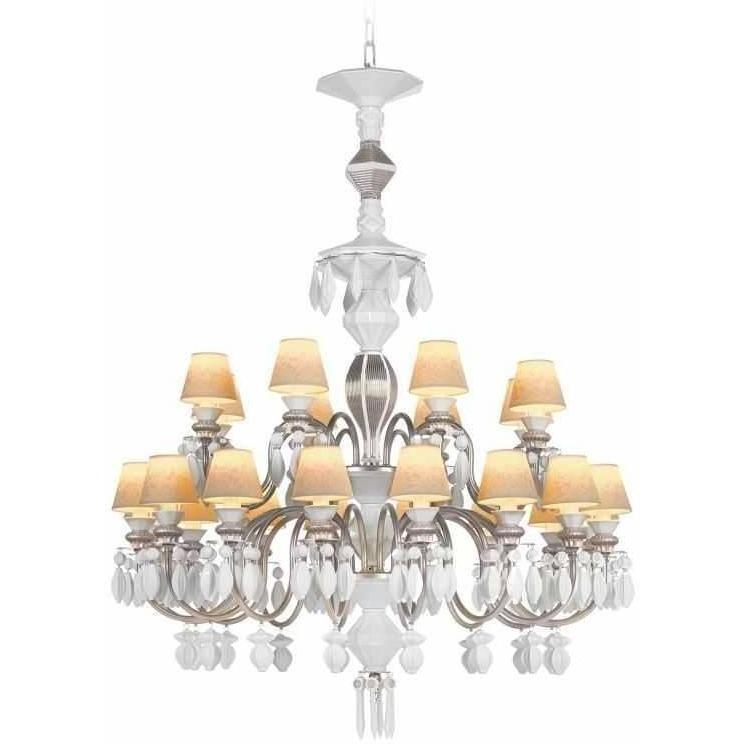 Lladro Belle De Nuit Chandelier 24 Lights Silver 01023914