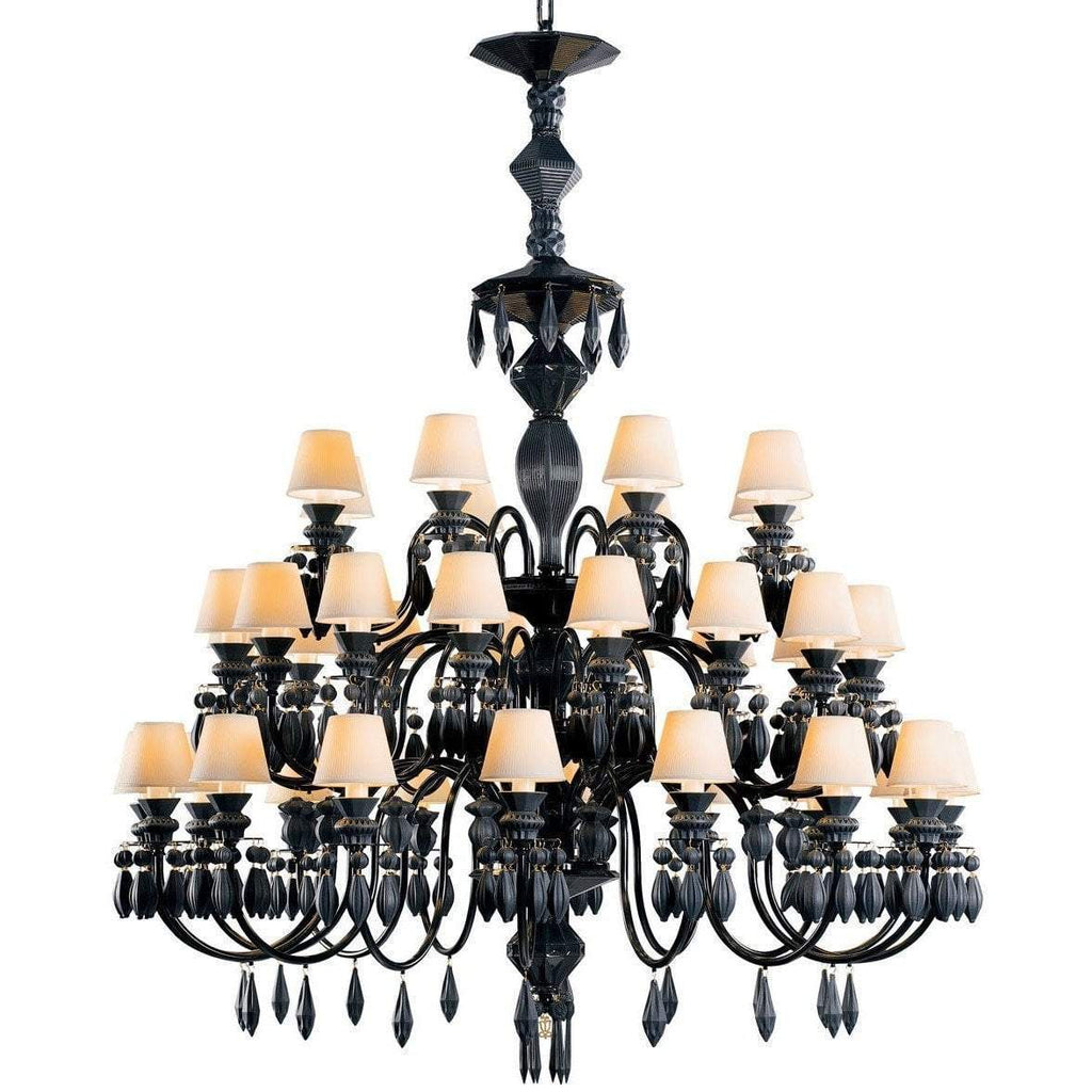 Lladro Belle De Nuit Chandelier 40 Light Absolute Black 01023753