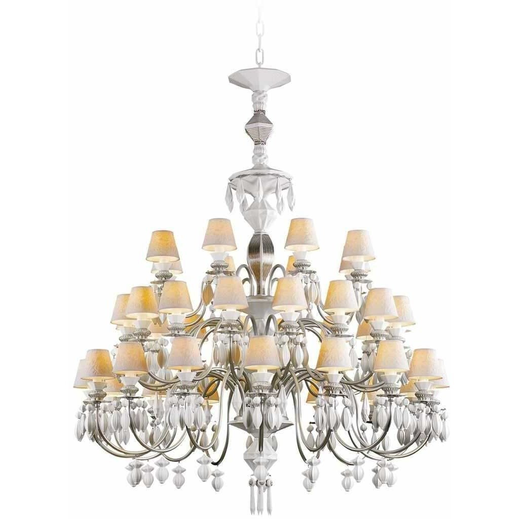 Lladro Belle De Nuit Chandelier 40 Lights Silver 01023917