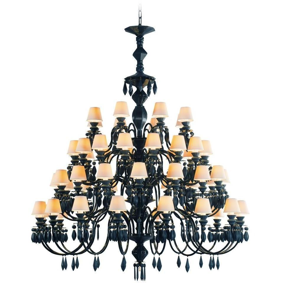 Lladro Belle De Nuit Chandelier 56 Light Absolute Black 01023790