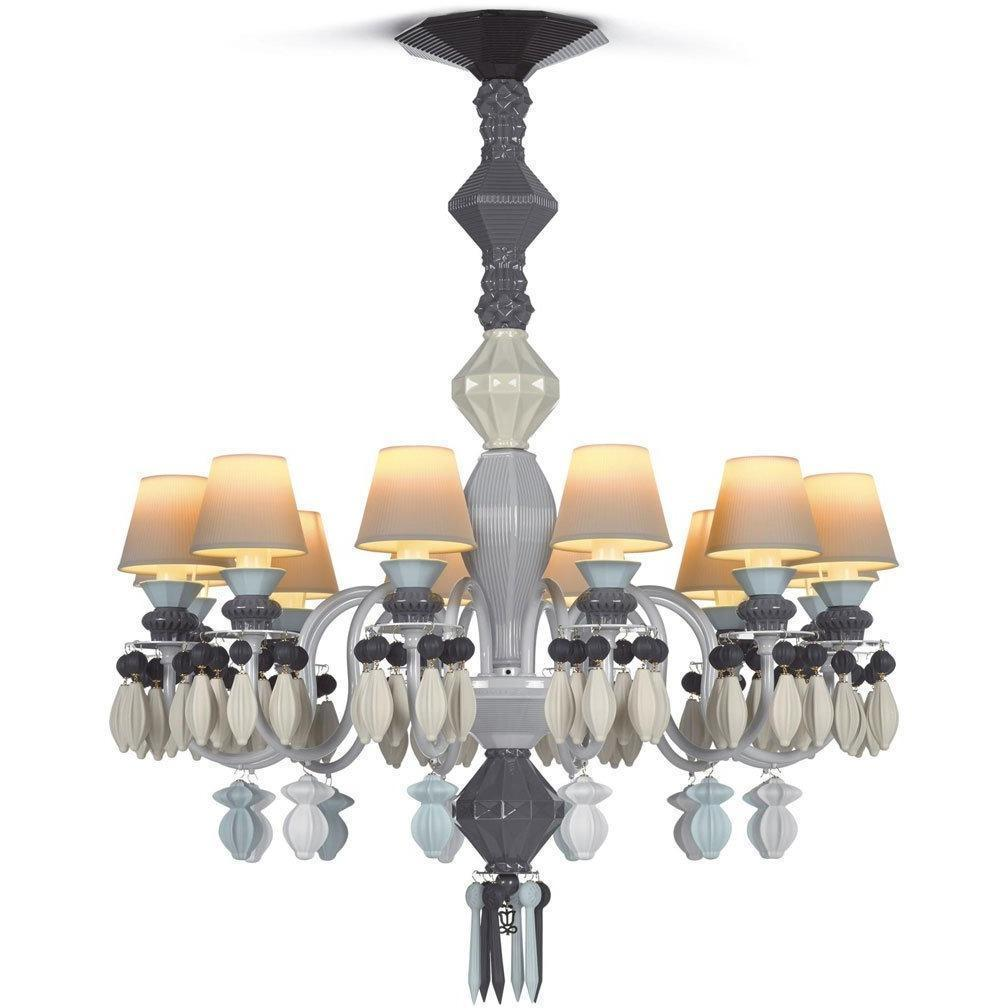 Lladro Belle De Nuit Chandelier Black 12 Lights 01023209
