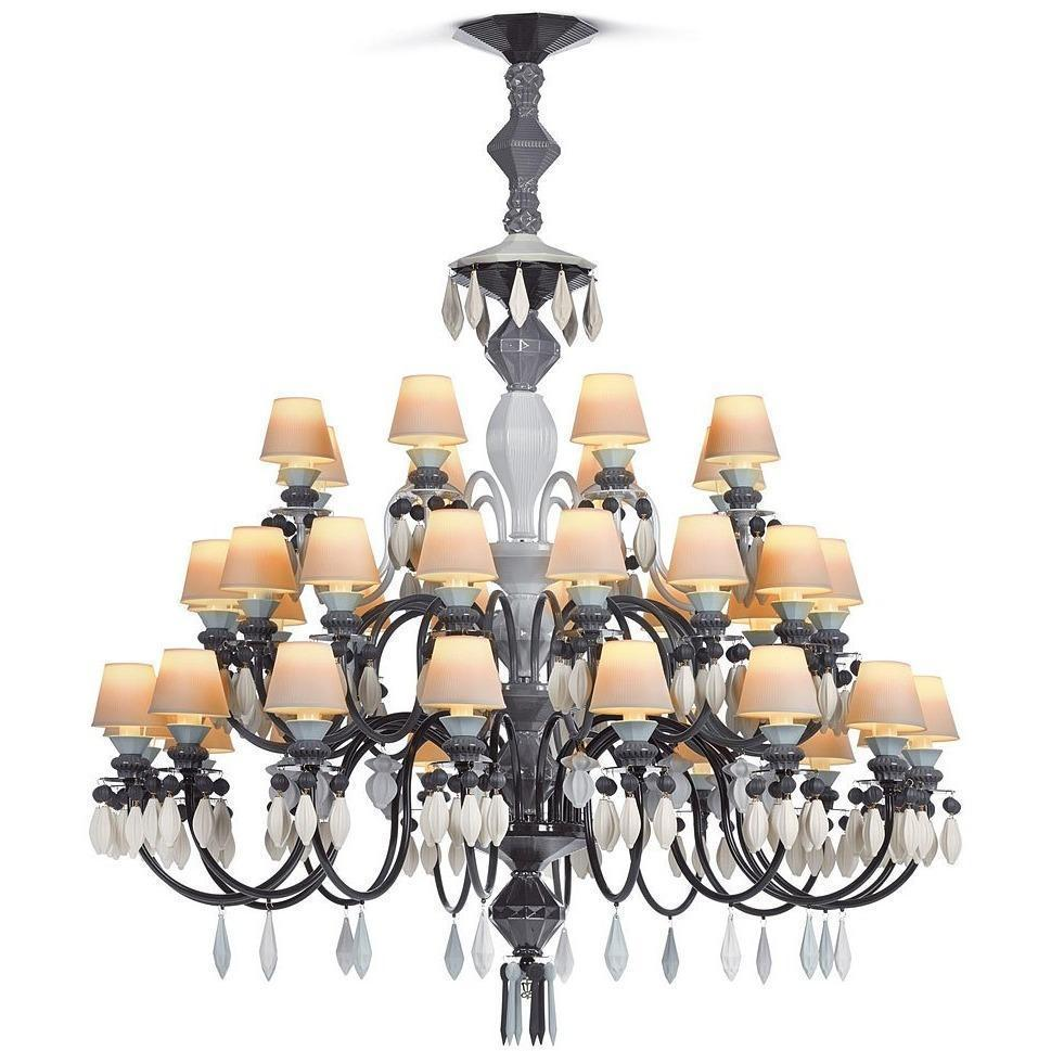 Lladro Belle De Nuit Chandelier Black 40 Lights 01023212