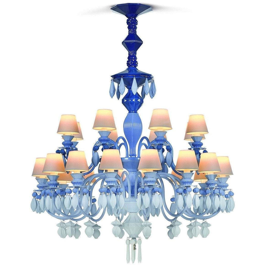 Lladro Belle De Nuit Chandelier Blue 24 Lights 01023255