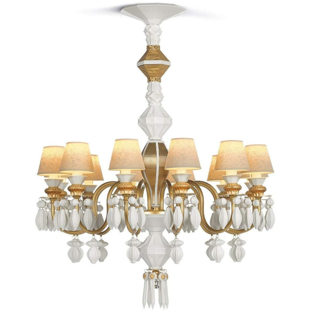 Lladro Belle De Nuit Chandelier Gold 12 Lights 01023309