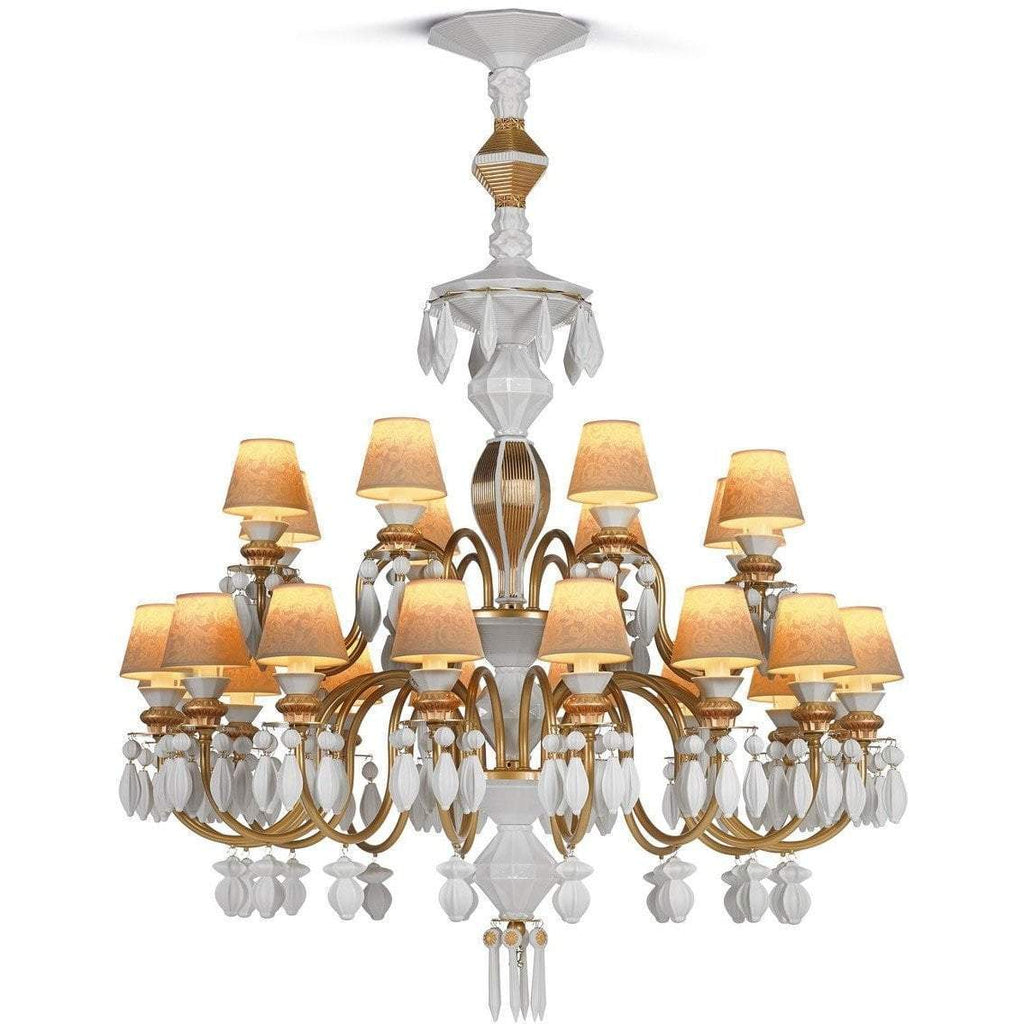 Lladro Belle De Nuit Chandelier Gold 24 Lights 01023315