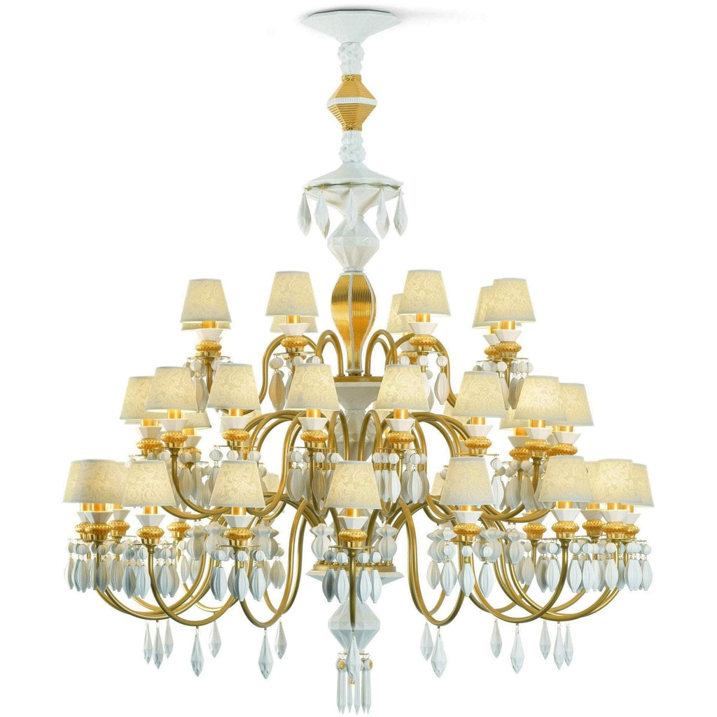 Lladro Belle De Nuit Chandelier Gold 40 Lights 01023312