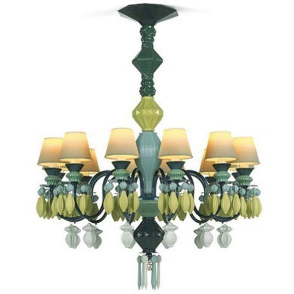 Lladro Belle De Nuit Chandelier Green 12 Lights 01023229