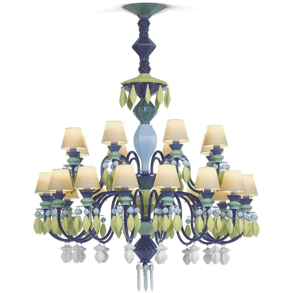 Lladro Belle De Nuit Chandelier Green 24 Lights 01023235