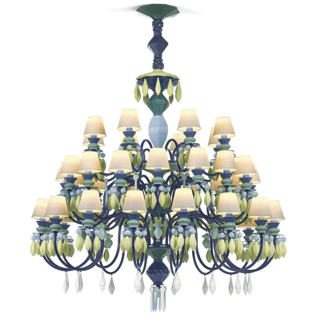 Lladro Belle De Nuit Chandelier Green 40 Lights 01023232