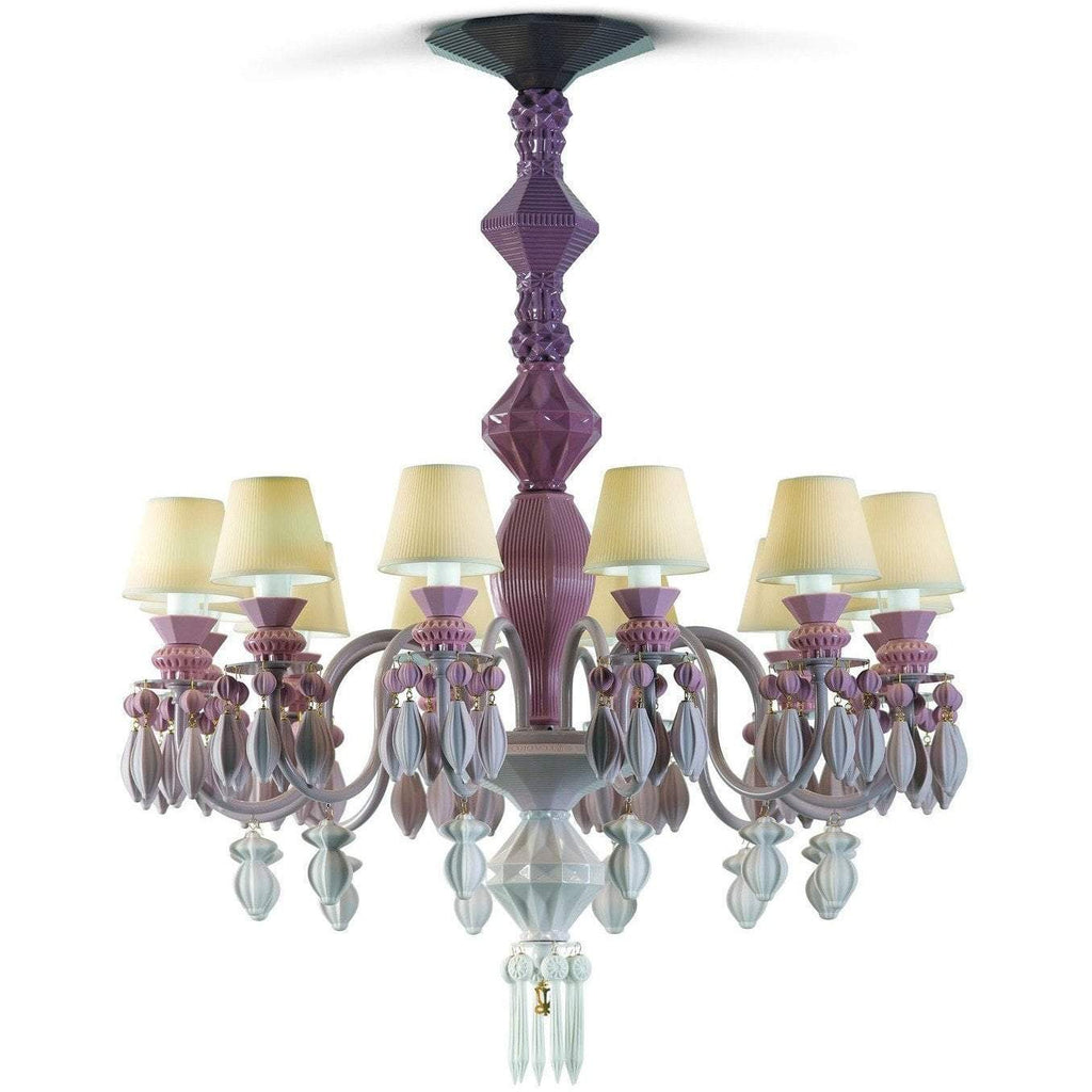 Lladro Belle De Nuit Chandelier Pink 12 Lights 01023269