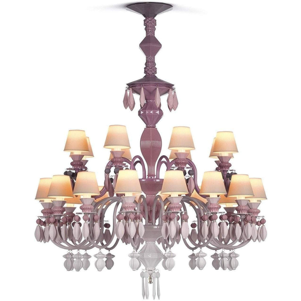 Lladro Belle De Nuit Chandelier Pink 24 Lights 01023275