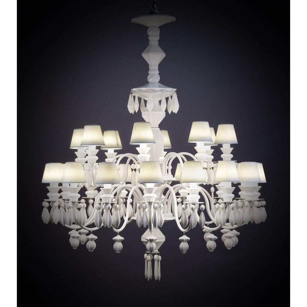 Lladro Belle De Nuit Chandelier White 24 Lights 01023195