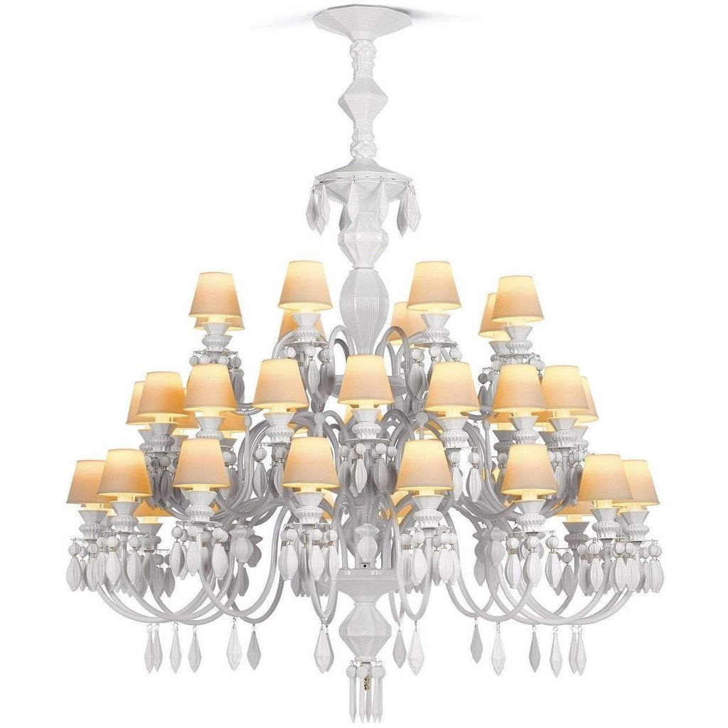 Lladro Belle De Nuit Chandelier White 40 Lights 01023192