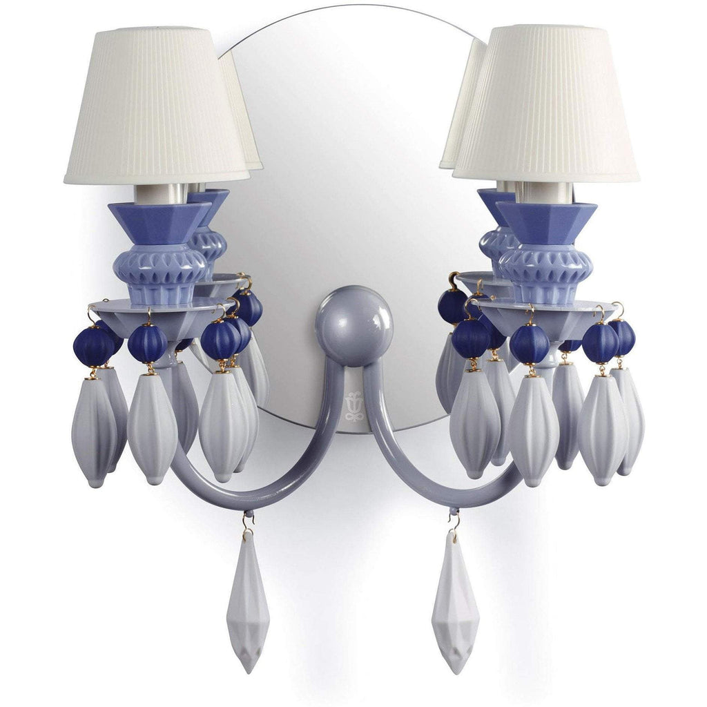 Lladro Belle De Nuit Wall Sconce Blue 01023258