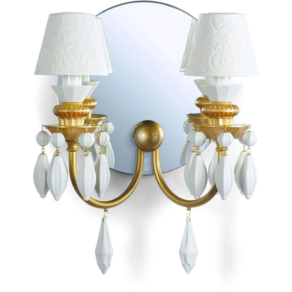Lladro Belle De Nuit Wall Sconce Gold 01023318