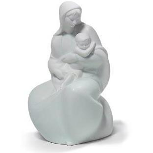 Lladro Blessed Mother with Jesus Figurine 01008587
