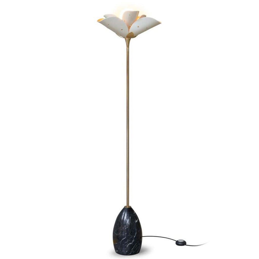 Lladro Blossom Floor Lamp White Gold 01024130