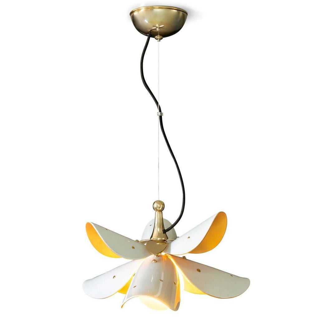 Lladro Blossom Hanging Lamp White Gold 01024122