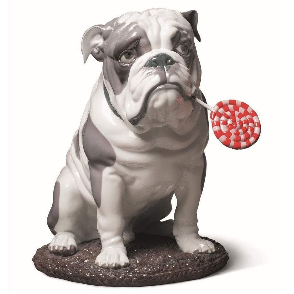 Lladro Bulldog With Lollipop Figurine 01009234