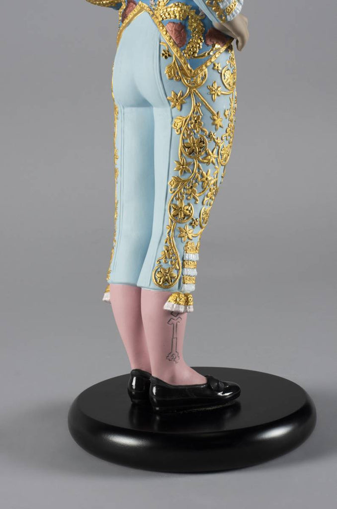 Lladro Bullfighter Figurine Blue Limited Edition 01002013