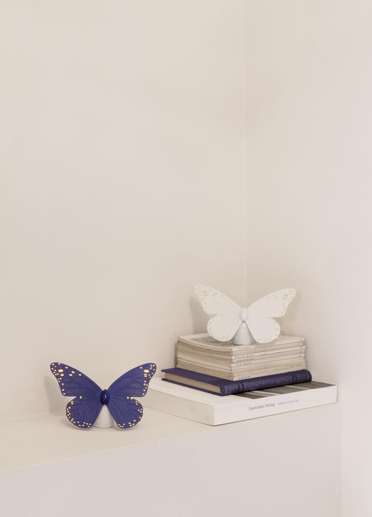 Lladro Butterfly Blue Gold Figurine 01009452