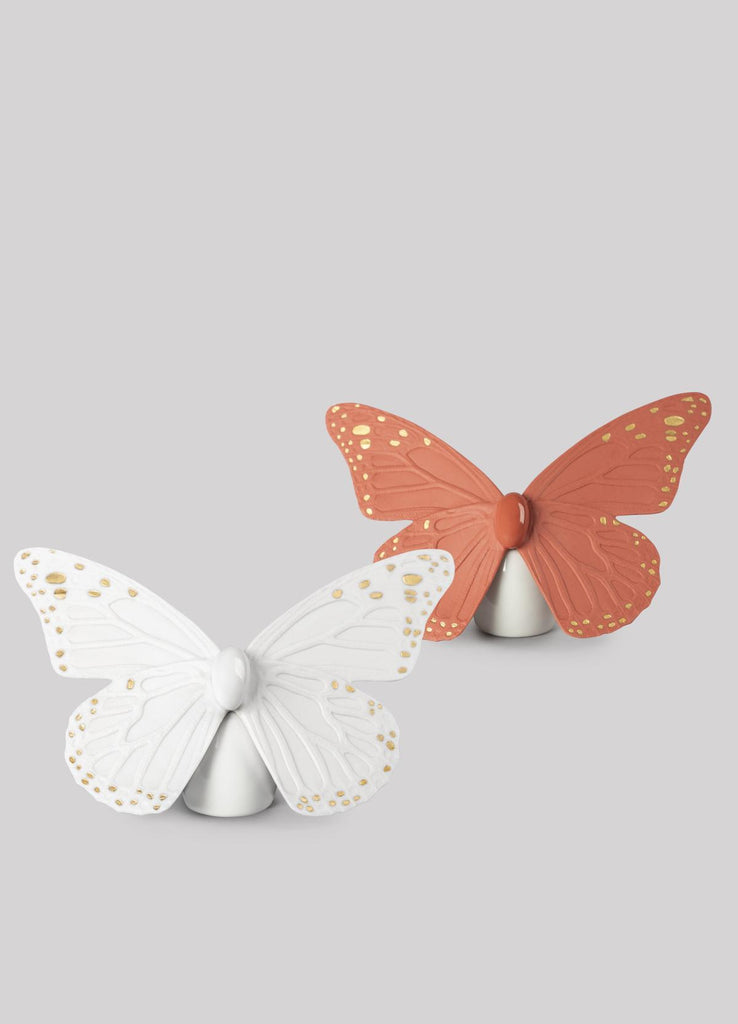 Lladro Butterfly Coral Gold Figurine 01009453