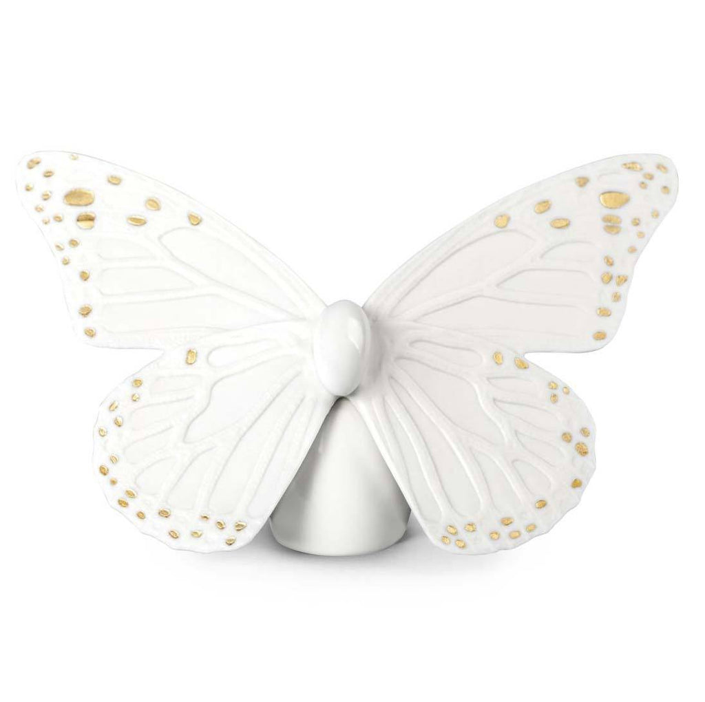 Lladro Butterfly White Gold Figurine 01009451