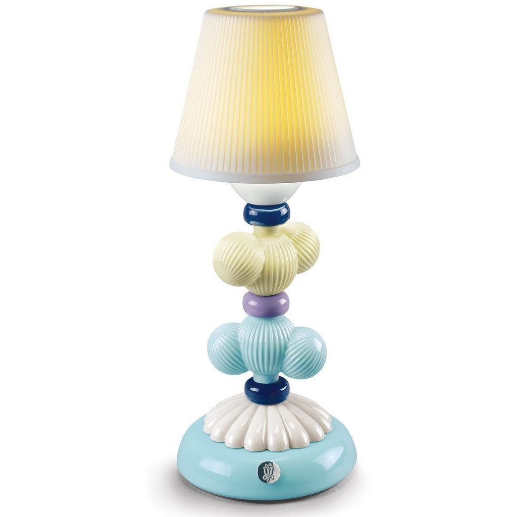 Lladro Cactus Firefly Lamp Yellow And Blue 01023767