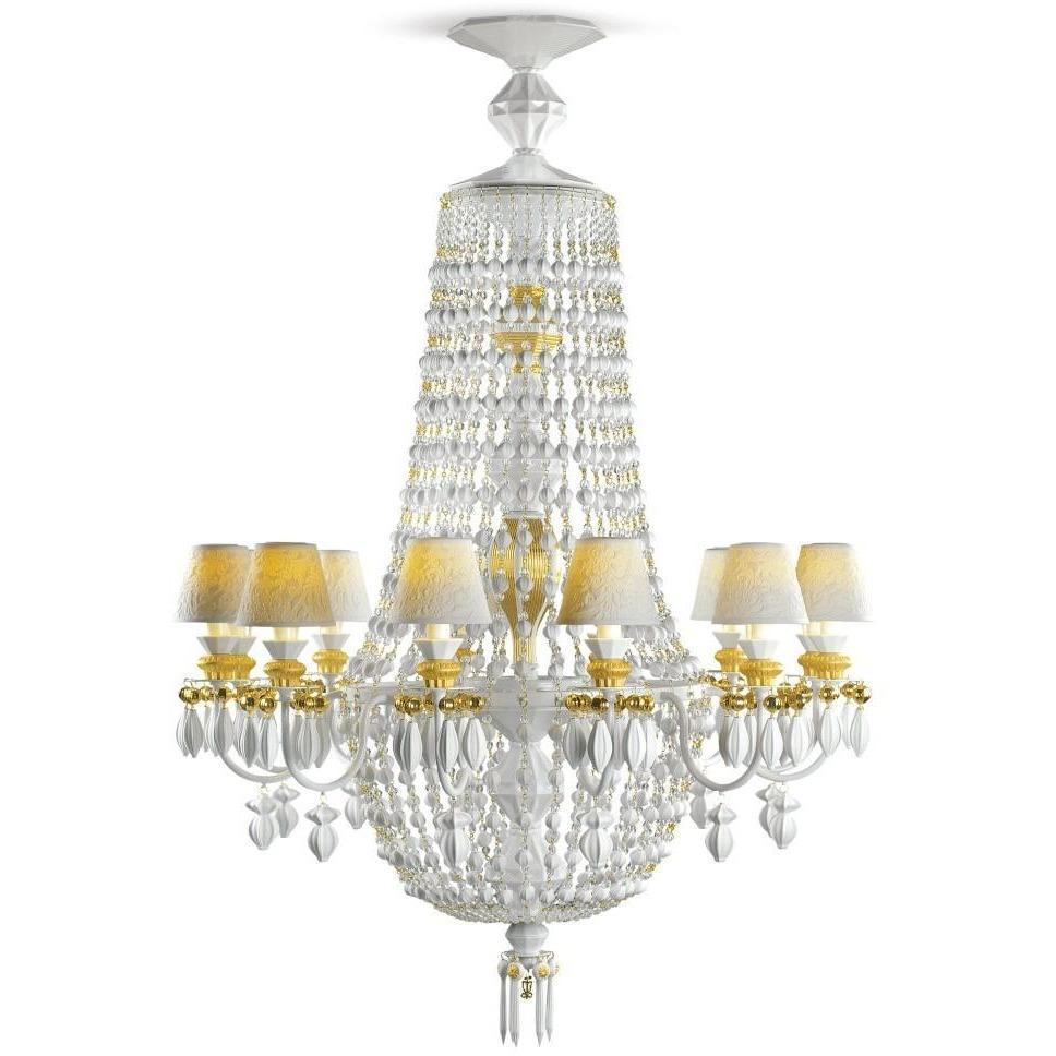 Lladro Chandelier Winter Palace 12 Lights Gold 01023504