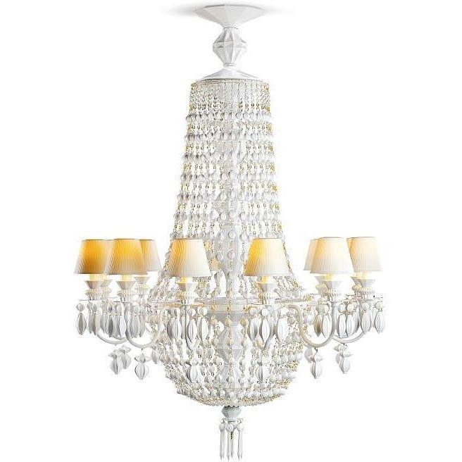 Lladro Chandelier Winter Palace 12 Lights White 01023489