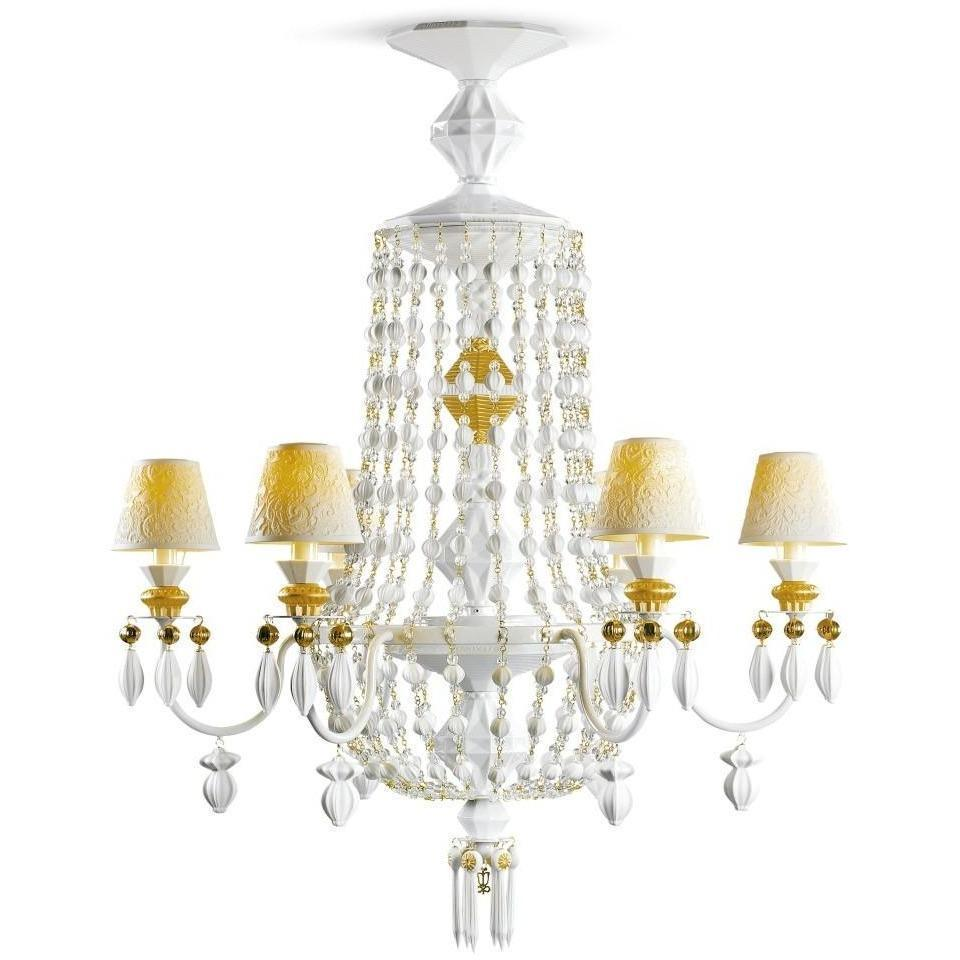 Lladro Chandelier Winter Palace 6 Lights Gold 01023486