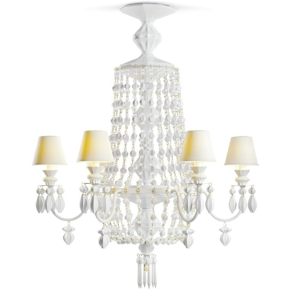 Lladro Chandelier Winter Palace 6 Lights White 01023471