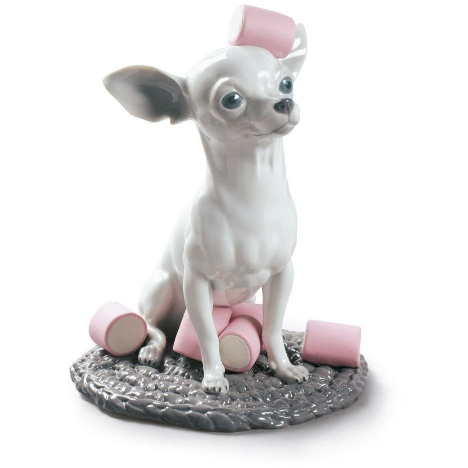 Lladro Chihuahua With Marshmallows Figurine 01009191