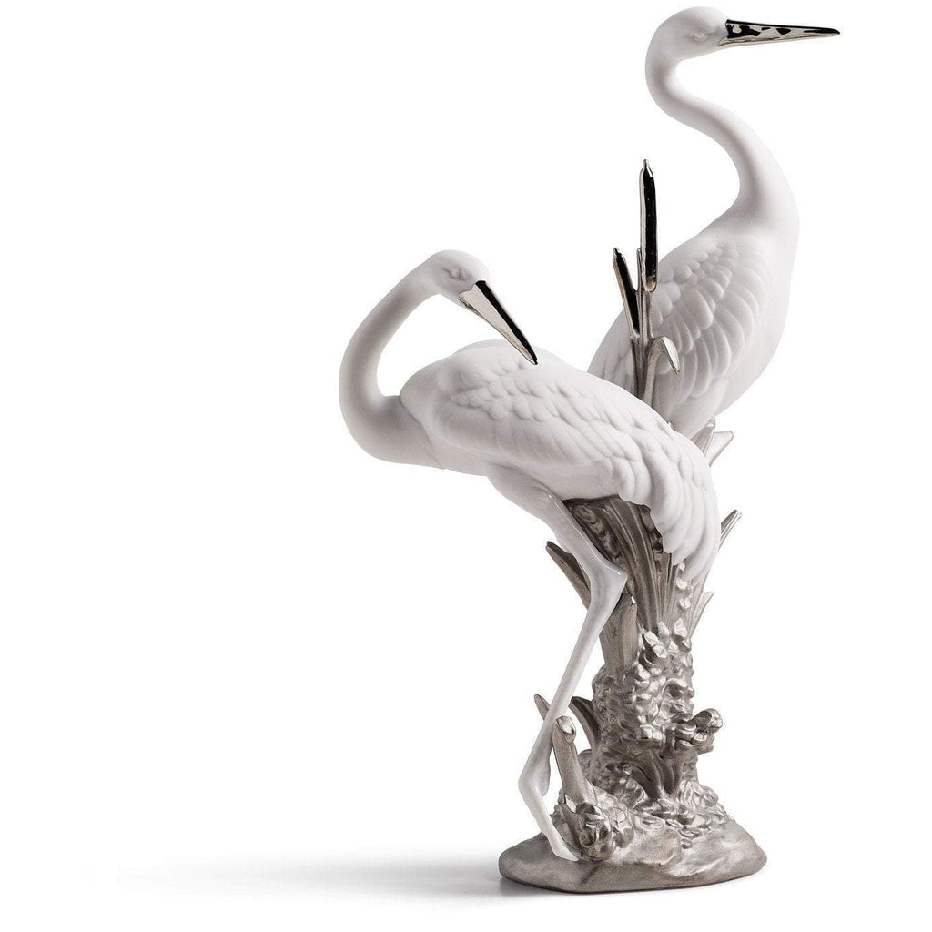 Lladro Courting Cranes Re Deco Figurine 01007104