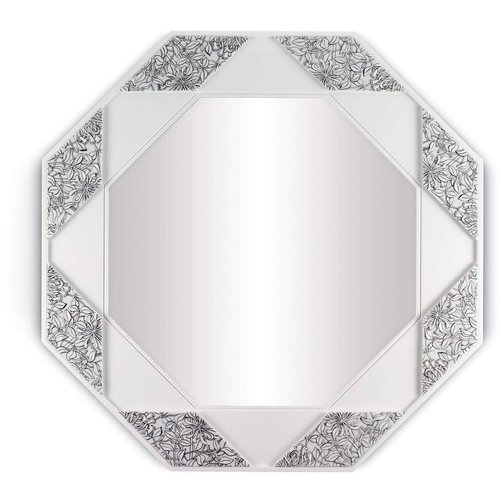 Lladro Eight Sided Mirror Black And White 01007159